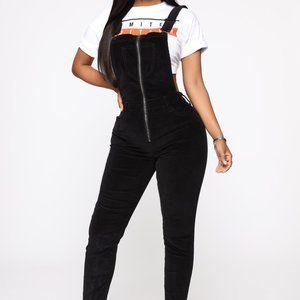 Fashion Nova Black Women's Corduroy Size M/S